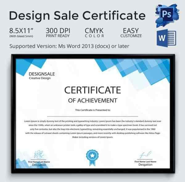 Sample Scholarship Certificate. Design Sale Certificate Template ...