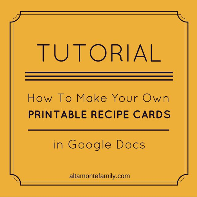 How To Make Free Printables In Google Docs | Altamonte Family