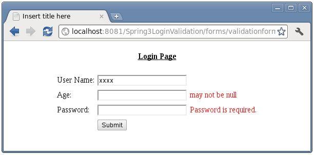 Spring MVC form Validation with InternalResourceViewResolver ...