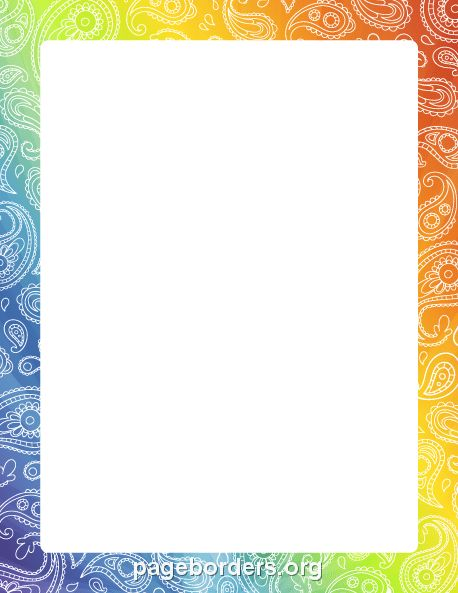 Printable paisley border. Use the border in Microsoft Word or ...