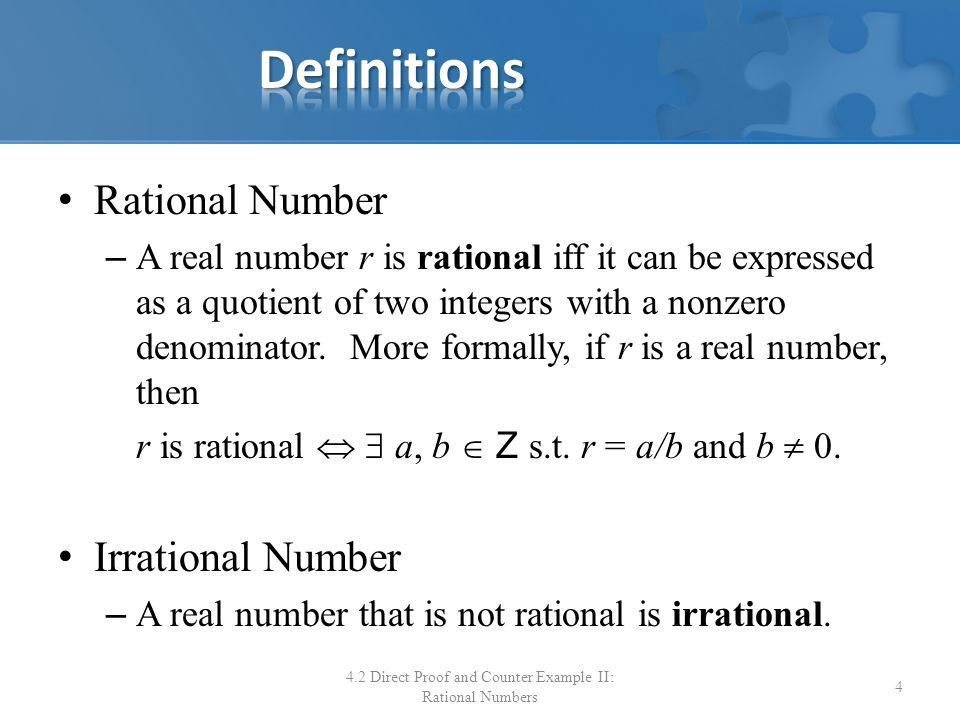 Chapter 4: Elementary Number Theory and Methods of Proof 4.2 ...