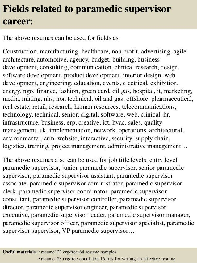 entry level resume sample free resume template professional emt ...
