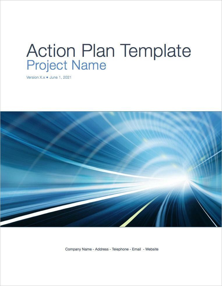 Action Plan Template (Apple iWork Pages)