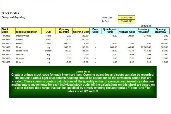 Excel Inventory Template - 18+ Free Excel, PDF Documents Download ...