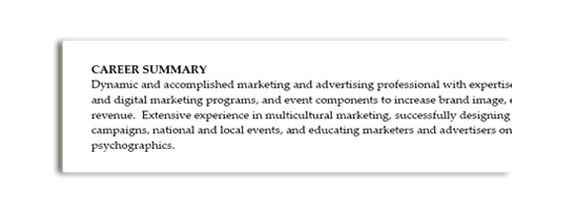 Creative Career Worksheet: Write a stellar resume summary ...