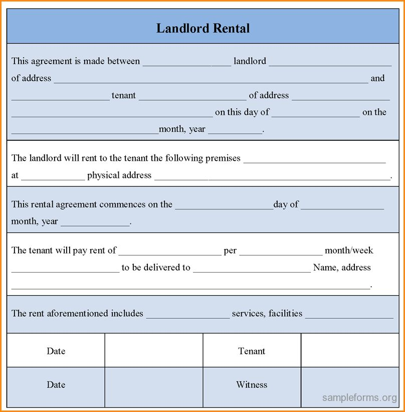 Landlord Rental Agreement.landlord Form 1.jpg - Loan Application Form