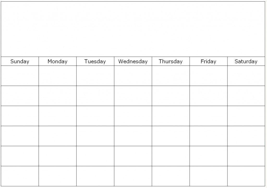 7 Day Calendar Template - Contegri.com