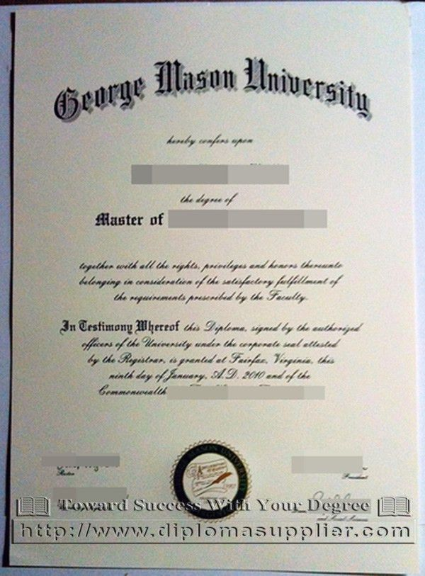 Can I buy the George Mason University master degree certificate ...