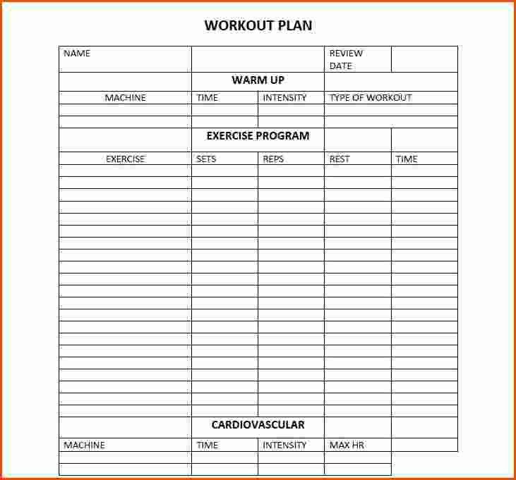 workout plan templates