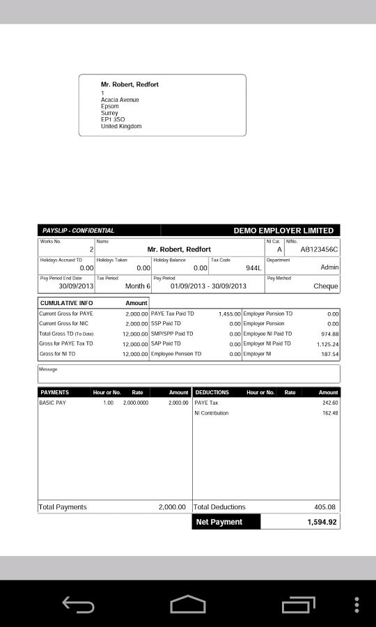 Able Internet Payroll Payslip - Android Apps on Google Play