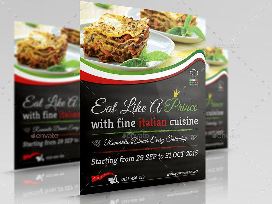 Italian Food Restaurant Flyer Vol.2 by OWPictures | GraphicRiver