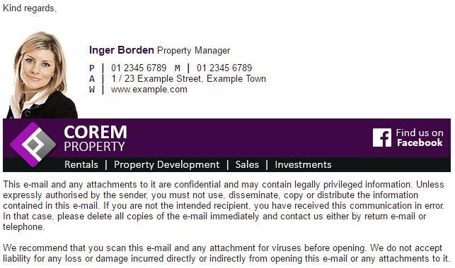 Inger Borden - Free Professional Email Signature Template | ZippySig