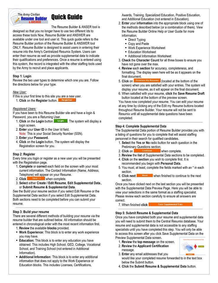 Vets Resume Builder | Enwurf.csat.co