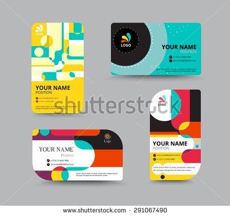 Business Card Template Name Card Design Stock Vector 291067505 ...