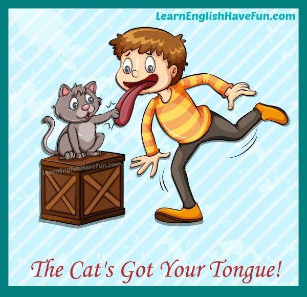 Cat Got Your Tongue Idiom