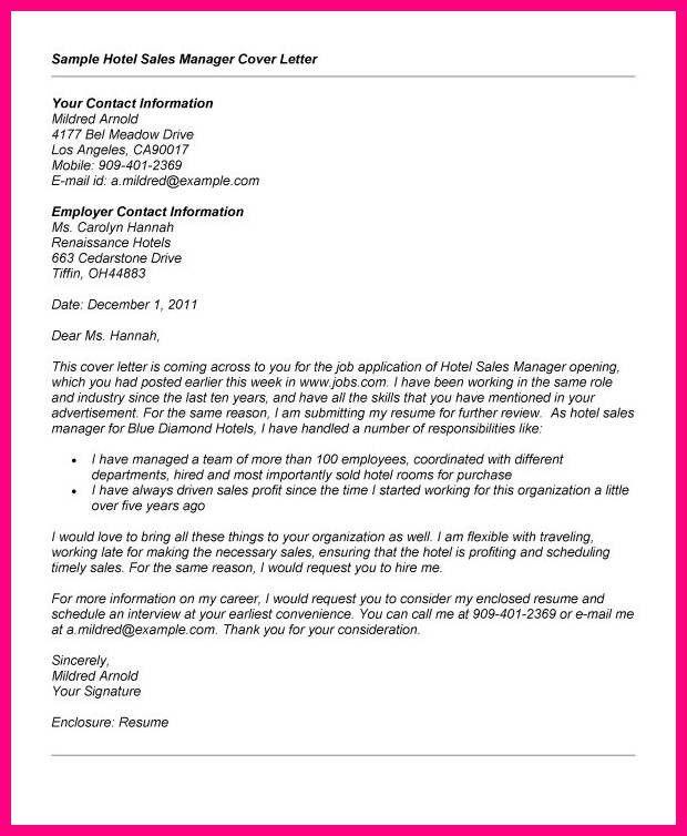 11 Application Letter For A Sales Job