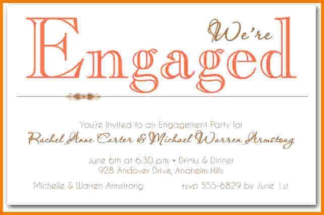 6 engagement party invitation templates | Receipt Templates