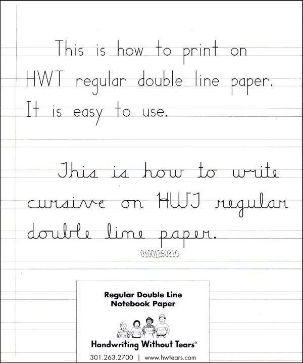 Regular Double Line Notebook Paper - 100 Sheets (010603) Details ...