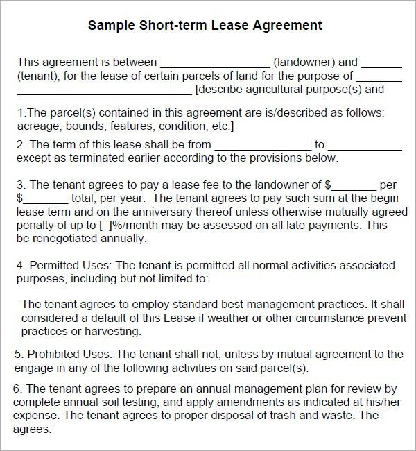 Lease Agreement Template. House Lease Agreement Template | Lease ...