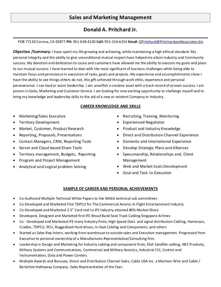 Sales Experience Resume. Sample Sales Consultant Resume Template ...