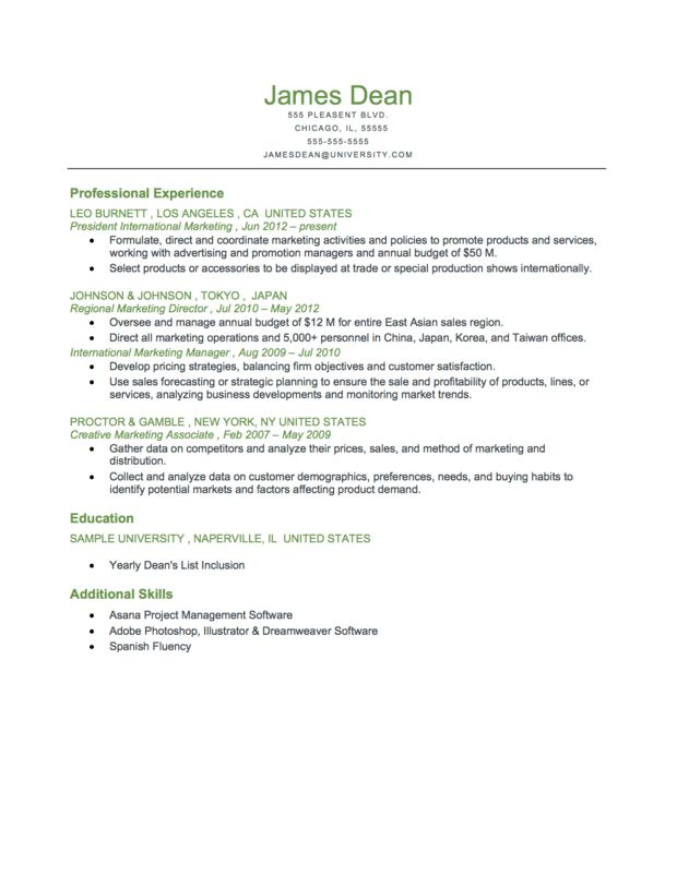 Example Of A Executive Level Reverse Chronological Resume Download ...