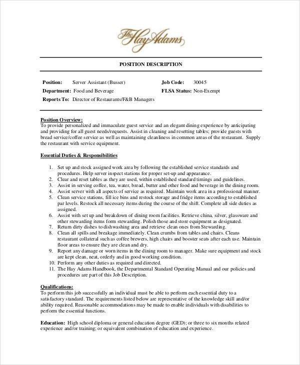 food and beverage director resumes