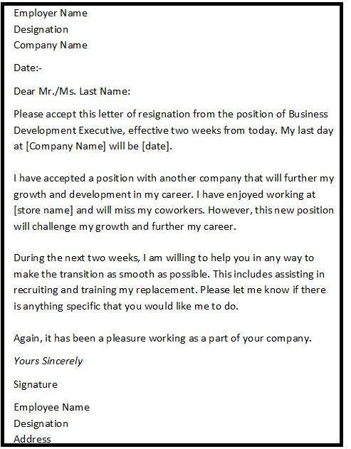 Best 25+ Letter for resignation ideas on Pinterest | Job ...