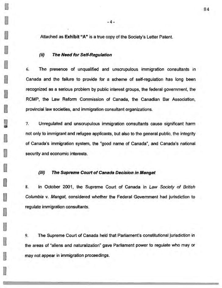 Federal Court Affidavit Form - Canada Free Download