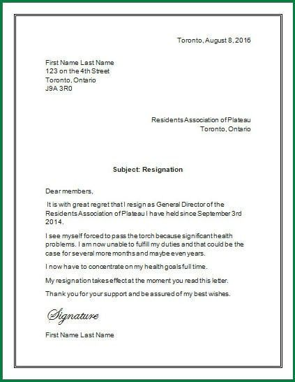 11 How to Write One Month Notice for Resignation ...