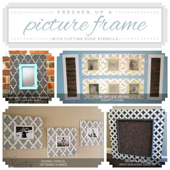 Stenciling A Picture Frame in Four Easy Steps « Stencil Stories