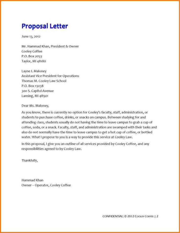 Business Proposal Letter Pdf. Proposal Letter Pdf Proposal Letter ...
