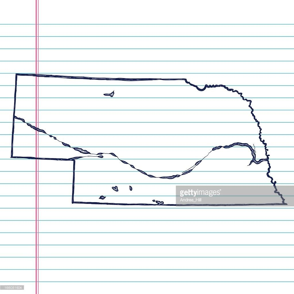 Vector Sketchy Map On Old Lined Paper Background Montana Vector ...
