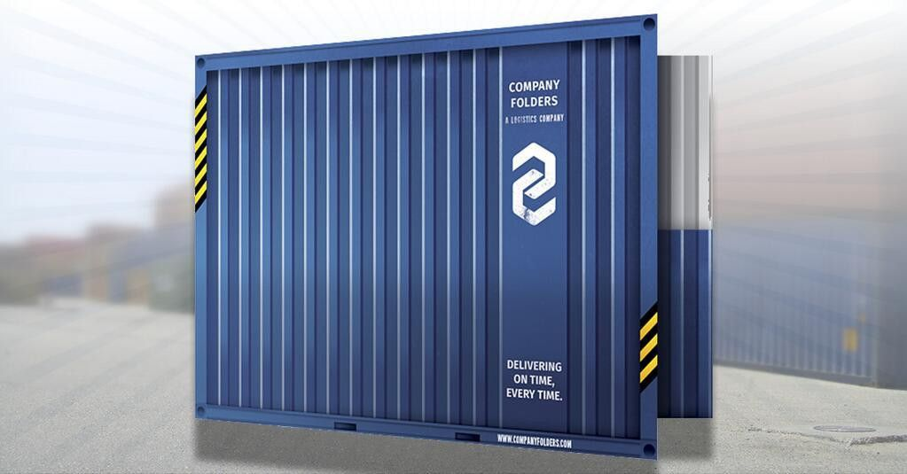 Free PSD] Shipping Container Folder Design Template