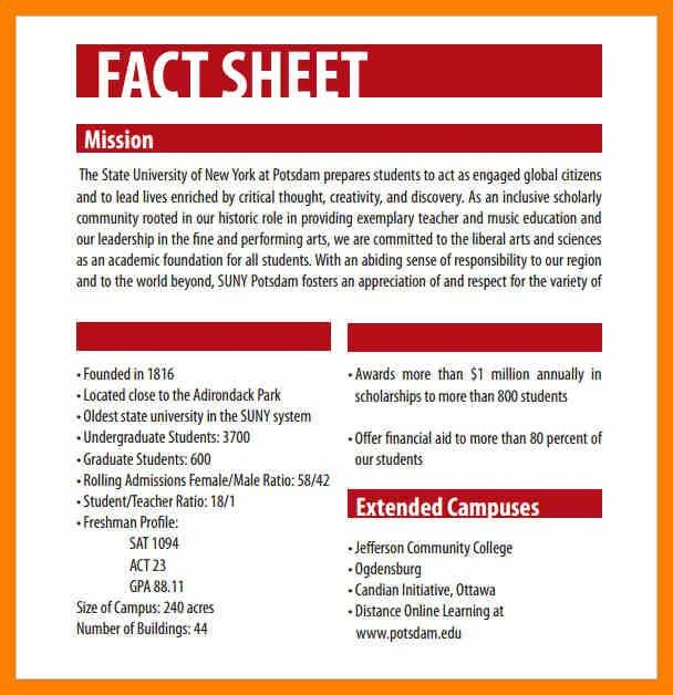 10+ fact sheet template | acknowledge form
