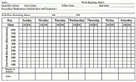 Pulmonary Services | Peak Flow Chart