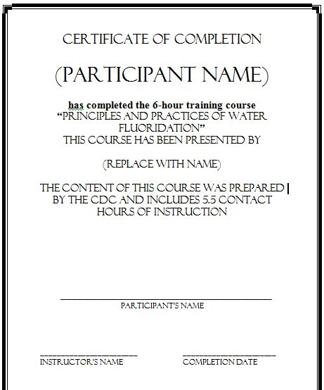 5 Certificate of Completion Templates - Certificate Templates