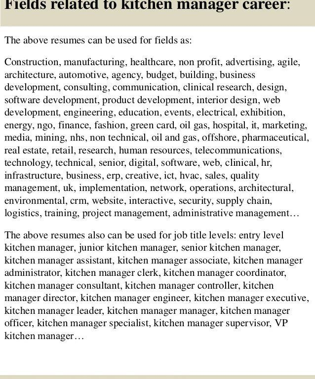 kitchen designer resumes. brand chef area kitchen manager resume ...