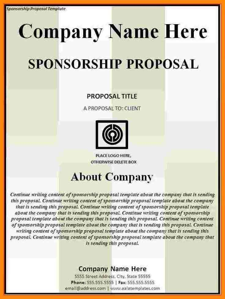 8+ sponsorship proposal template | nurse resumed