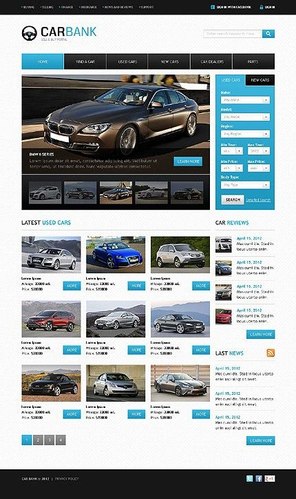 Attention-Getting Car Website Templates | Entheos