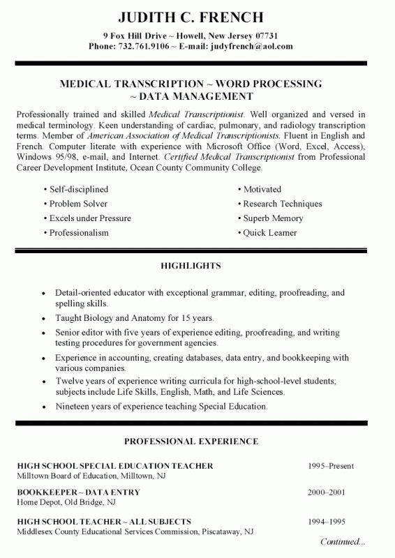 How To Write An Education Resume | Samples Of Resumes