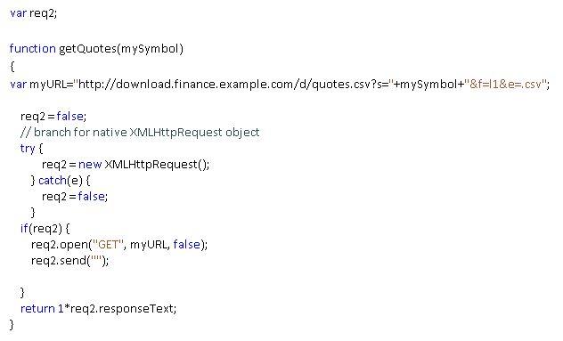 JavaScript Engine: XMLHTTPRequest Example