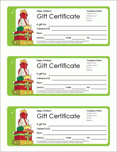 Free Gift Certificate Template and Tracking Log