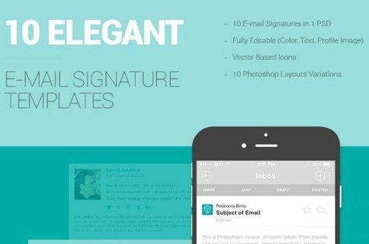 10 Free Email Signature Templates | Designbeep