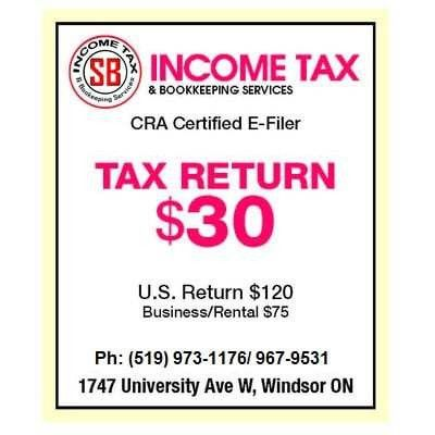 SB Income Tax & Bookkeeping Services - Tax Services - 1747 ...