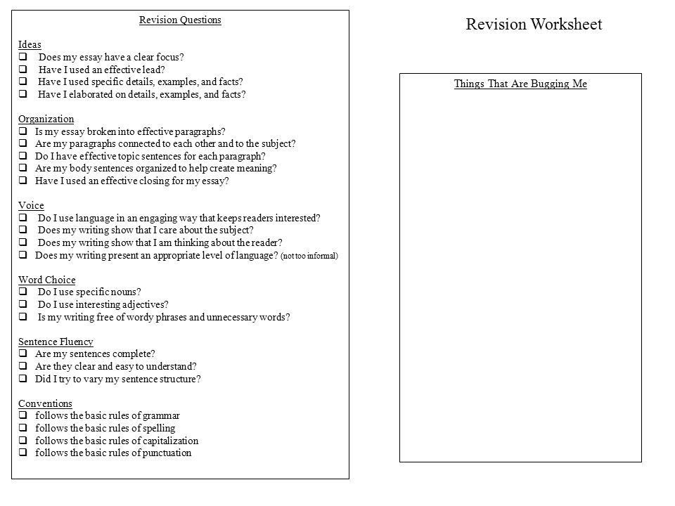 Writing Process Rubric - ppt download