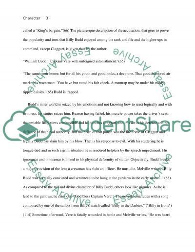 Character Sketch of Billy Budd. Essay Example | Topics and Well ...