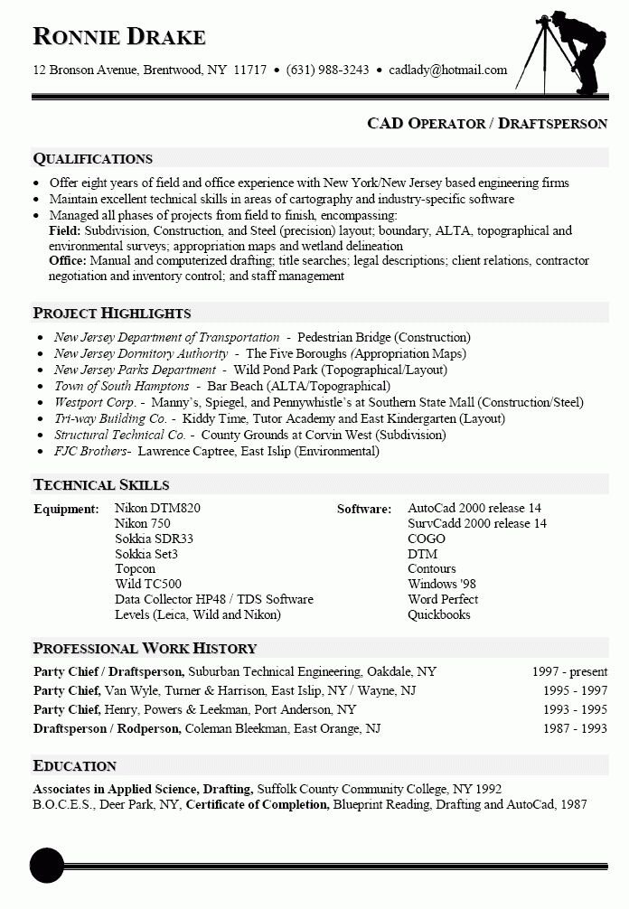 Resume Sample for CAD Operator | resumes | Pinterest | Cover ...