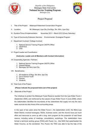 Calaméo - nstp proposal format