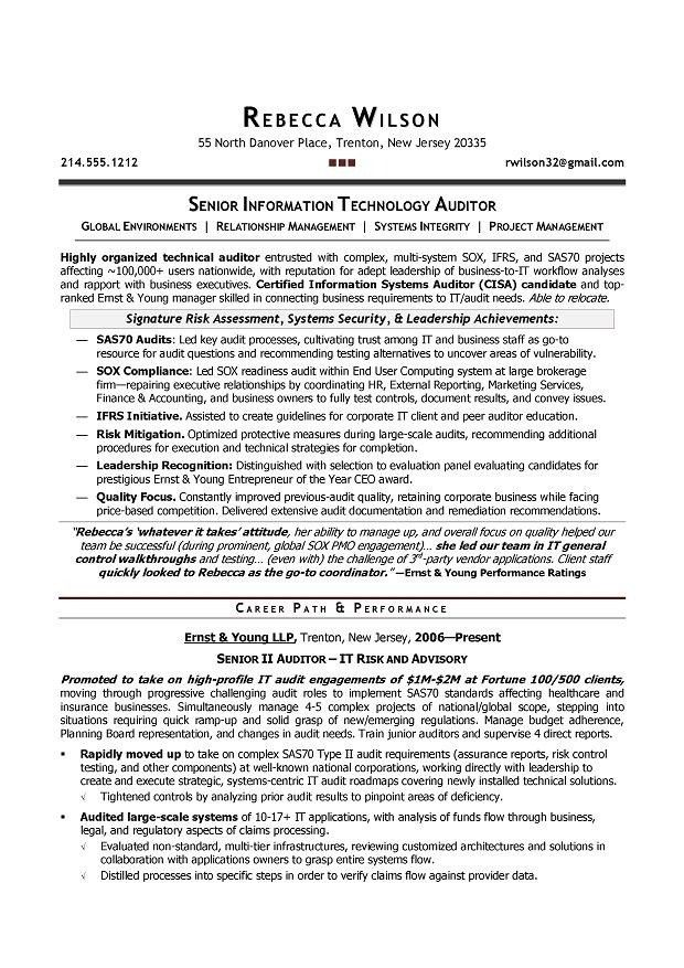 Internal Audit Manager Resume | The Best Letter Sample