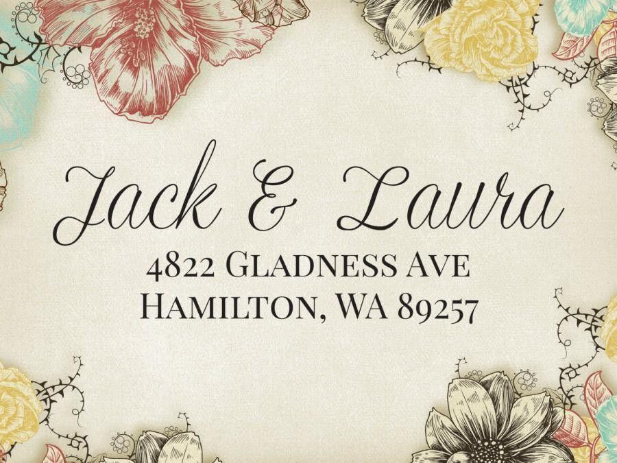 Fancy Text Custom Wedding Stamp, Wedding Invitation Return Address ...
